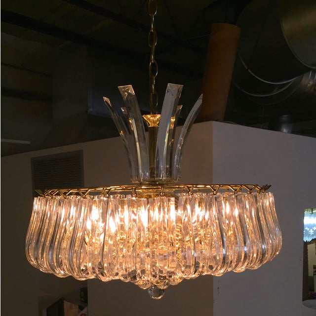 Triarch Lucite Chandelier - Image 5 of 6