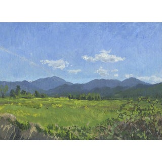 Wagner Butte with Blackberries: Original Oil Painting Plein Air Landscape For Sale
