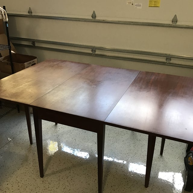Drop-Leaf Mahogany Dining Table - Image 4 of 4