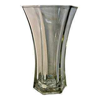 Vintage Heavy Hoosier Glass Vase