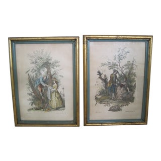 Offset Lithographs After Francois Boucher - A Pair For Sale
