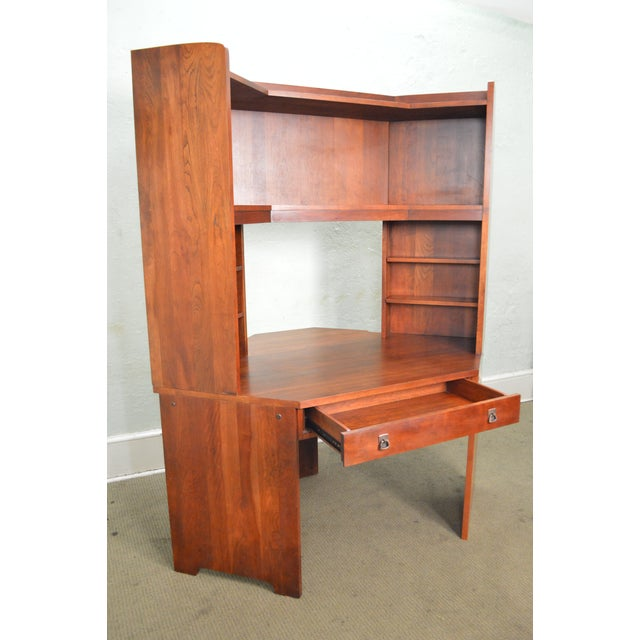 Stickley solid cherry corner desk w bookcase top chairish stickley solid cherry corner desk w bookcase top image 9 of 10 watchthetrailerfo
