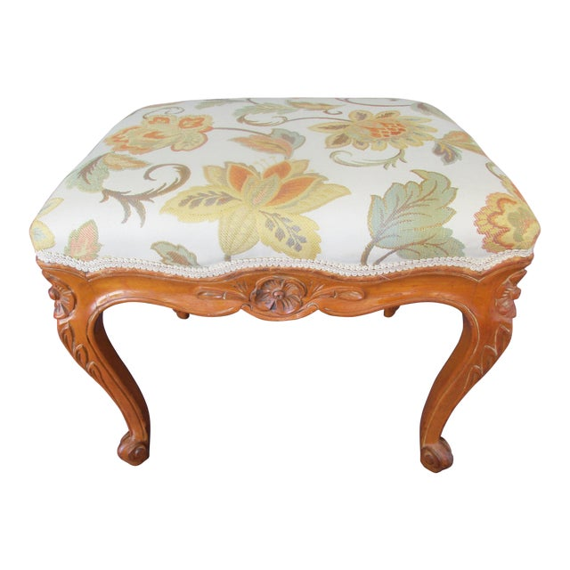 French Provincial Footstool For Sale