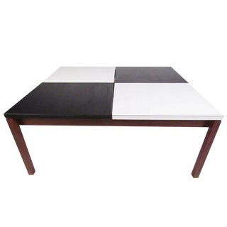 Vintage Modern Black and White Coffee Table by Lewis Butler for Knoll Associates For Sale
