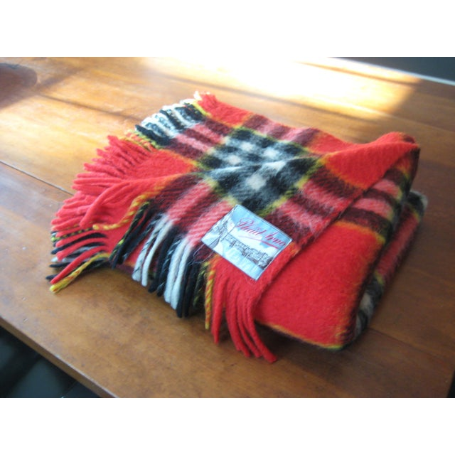 Red Plaid Arno Wool Camp Blanket - Image 2 of 6