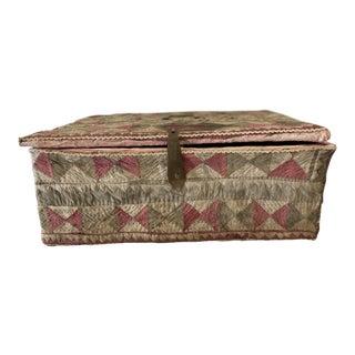 Antique Katha Quilt Box For Sale