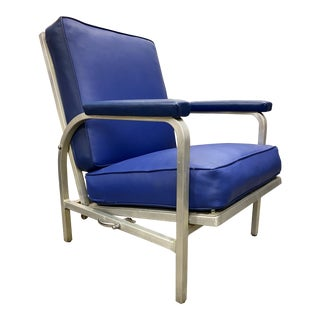 Mid Century Adjustable Lounge Chair by Alcoa Aluminum For Sale