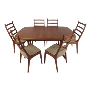 Mid-Century Modern Danish Dining Set - Set of 7 For Sale
