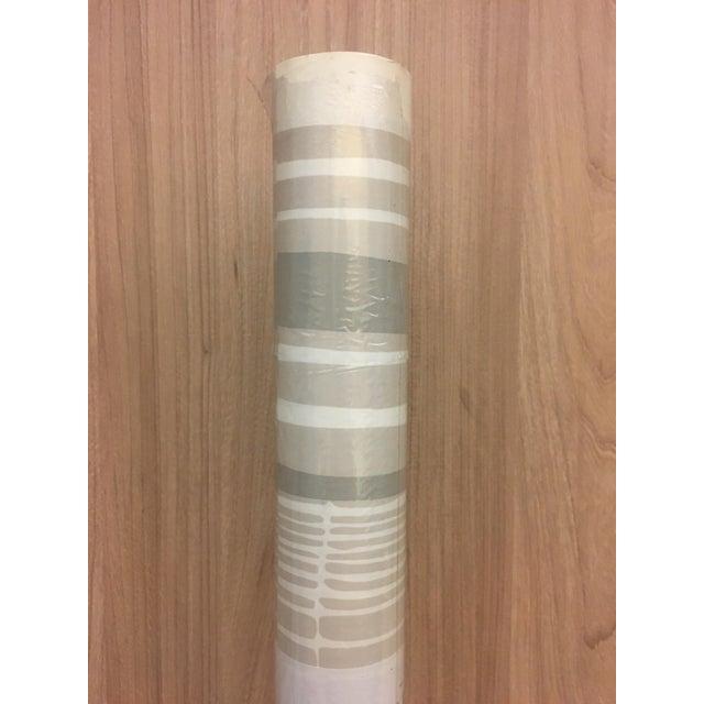 Florence Broadhurst Tortoiseshell Stripe Wallpaper in Beige/Cream For Sale - Image 4 of 7