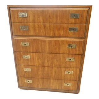 1970s Vintage Thomasville Six Drawer Gentleman's Chest of Drawers For Sale