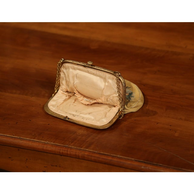 Mid 19th Century 19th Century French Louis XVI Aubusson Ladies Purse With Brass Strap and Lock For Sale - Image 5 of 9