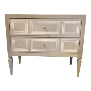 Modern History Gray Milan Commode For Sale