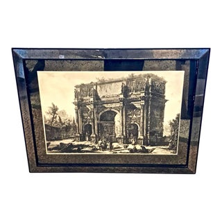 Pair of Piranesi Engravings in Mirrored Frames and Mats