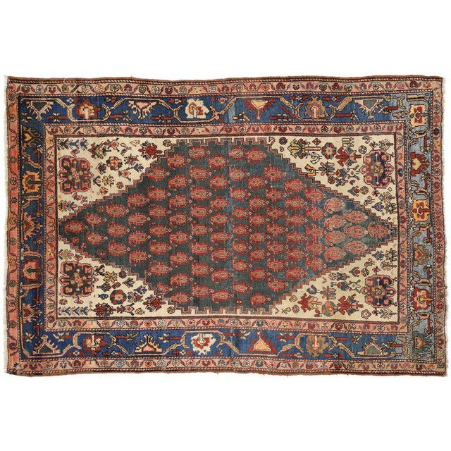 Antique Persian Malayer Rug with Modern Traditional Style For Sale In Dallas - Image 6 of 8