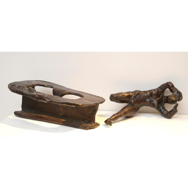 1960s Jean Robert Ipousteguy Bronze Sculpture For Sale - Image 5 of 7