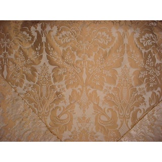 Kravet Couture Limoges Truffle Brown Silk Damask Upholstery Fabric - 11 5/8 Yards For Sale
