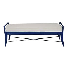 Malacca Bench - Navy Blue For Sale