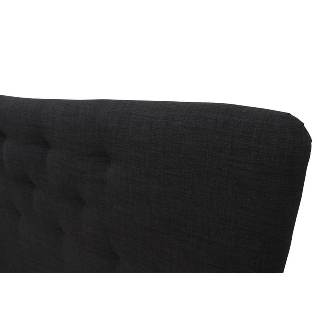 Curved Tufted King Headboard For Sale - Image 5 of 6