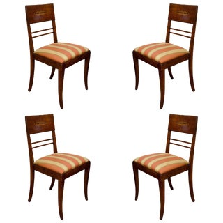 Set of Four Art Deco Side Chairs For Sale