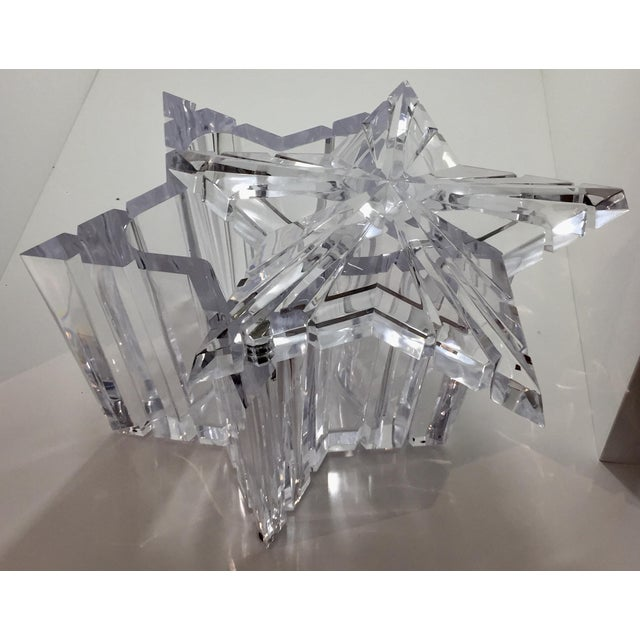 1970s 1970s Vintage Alessandro Albrizzi Lucite Star Ice Bucket For Sale - Image 5 of 11