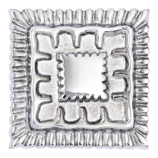 Mercedes Knob - Square- Polished Nickel For Sale
