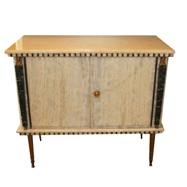 Metal French Onyx Commode C. 1950 For Sale - Image 7 of 7