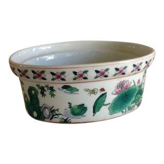 Asian Chinoiserie Ceramic Planter