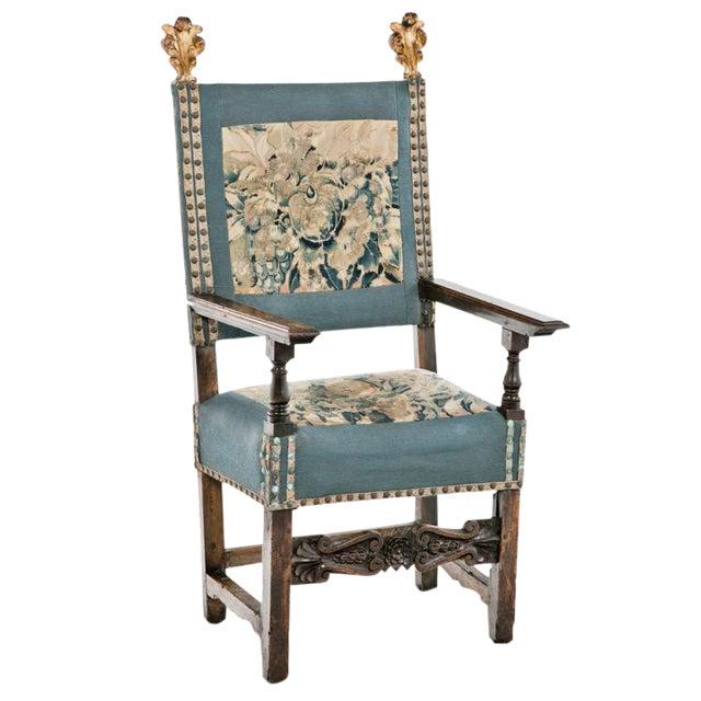 18th Century Italian Walnut Arm Chair For Sale