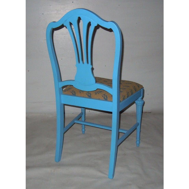 Blue Mid-Century Accent Chair - Image 6 of 8