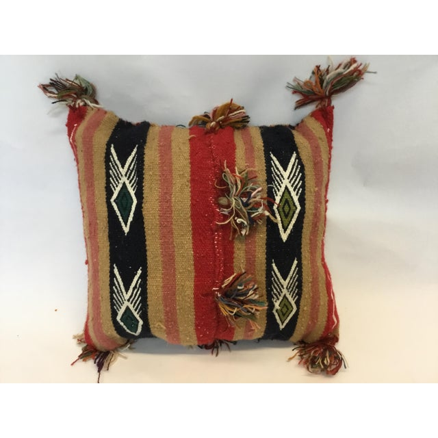 Tunisian Decorative Kilim Pillow - Image 2 of 3