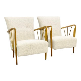 Italian Armchairs With New Upholstery - a Pair For Sale