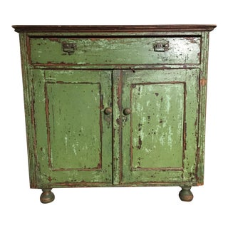 Antique Green Textured Dresser