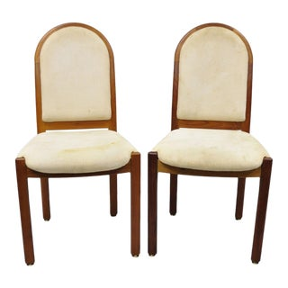 Pair of Benny Linden Design Mid-Century Danish Modern Style Teak Dining Side Chairs For Sale