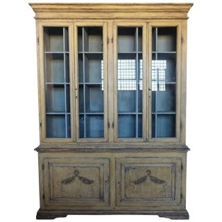 19th Century Hand-Painted French Country Cabinet For Sale