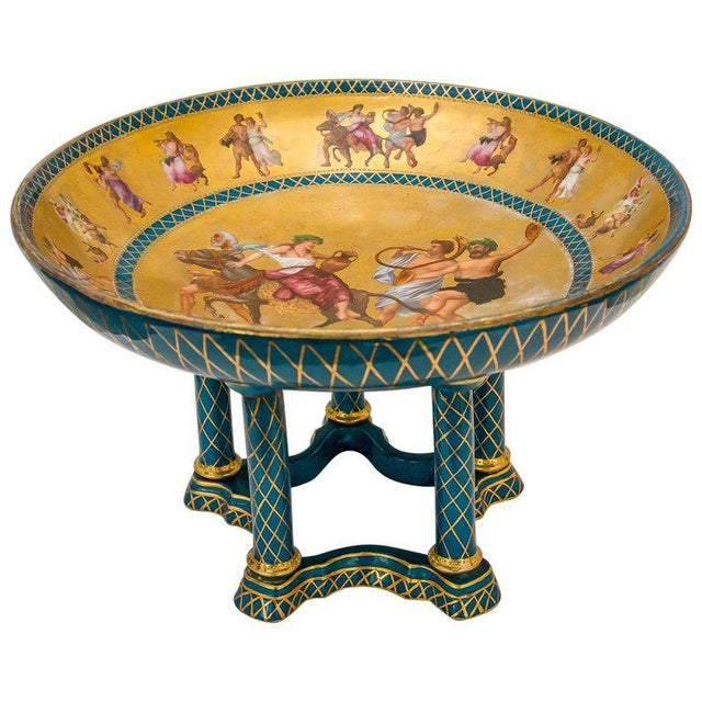 Antique French Porcelain Compote For Sale - Image 13 of 13