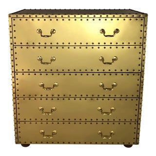Vintage Sarreid Ltd. Hollywood Regency Style 5 Drawer Chest For Sale