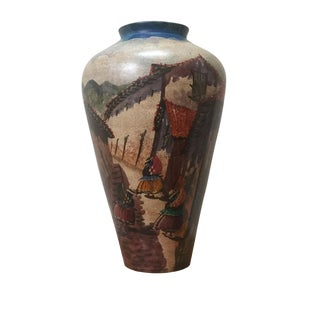 Painted Clay Vase