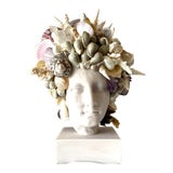 Image of Large Shell-Encrusted Hygiea Head For Sale