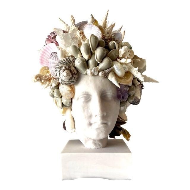 Large Shell-Encrusted Hygiea Head For Sale