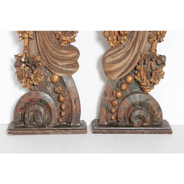 Pair of Italian Polychromed Male Figures / Torsos For Sale - Image 11 of 13