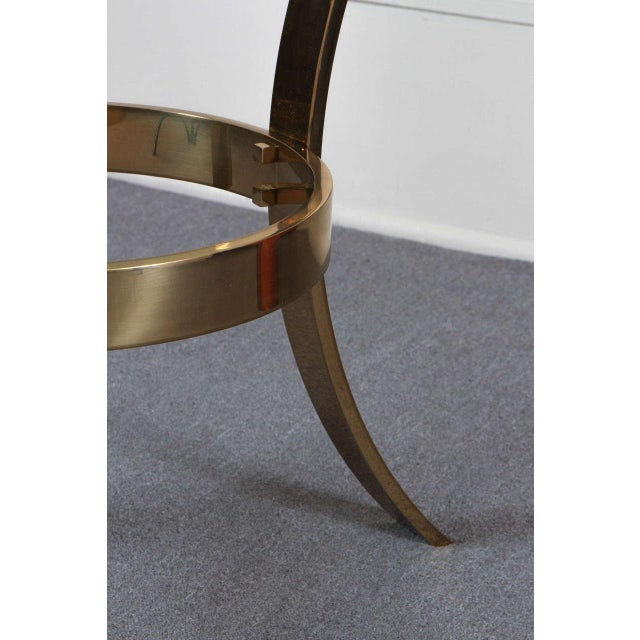 1970s 1970s Modern Brass and Glass Tripod Entry Table For Sale - Image 5 of 9