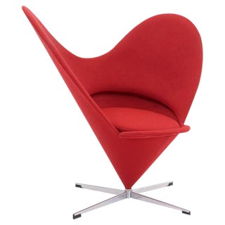 Vintage Original Verner Panton Cone Heart Chair for Plus-Linje For Sale