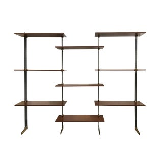 Wall Bookcase by Ignazio Gardella for Misuraemme For Sale