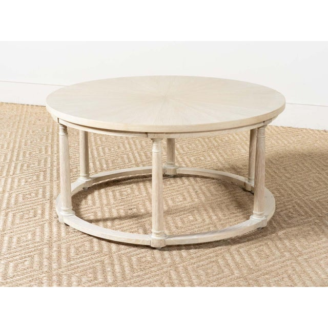 2020s Delos White Oak Round Cocktail Table For Sale - Image 5 of 5