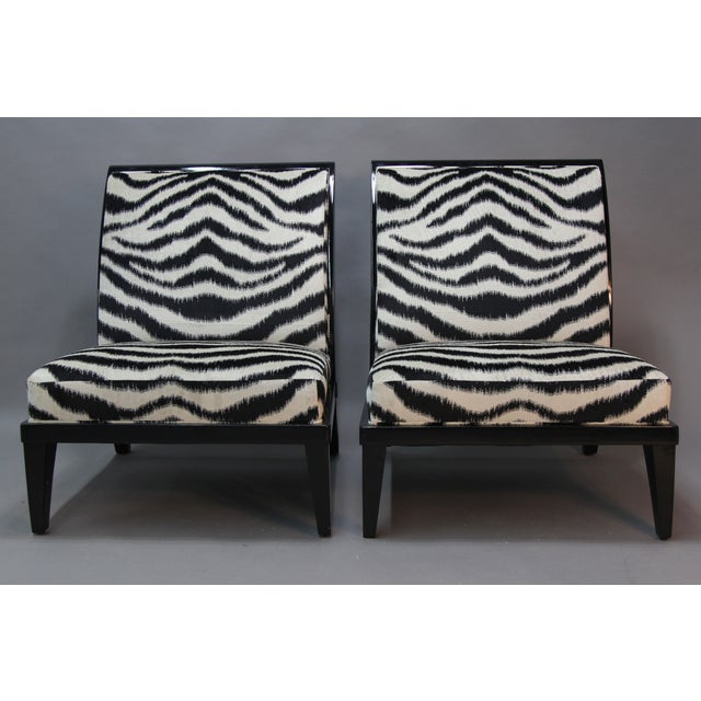 Holly Hunt Slipper Chairs - Pair - Image 2 of 9