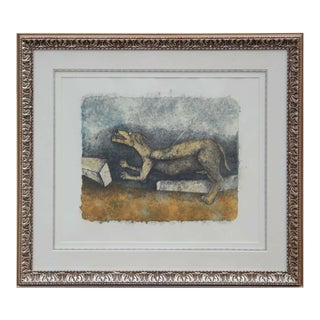 """1980s Rufino Tamayo """"Perro Herido (Wounded Dog)"""" From 90th Anniversary Suite Lithograph Ed. 22/110 1989 For Sale"""