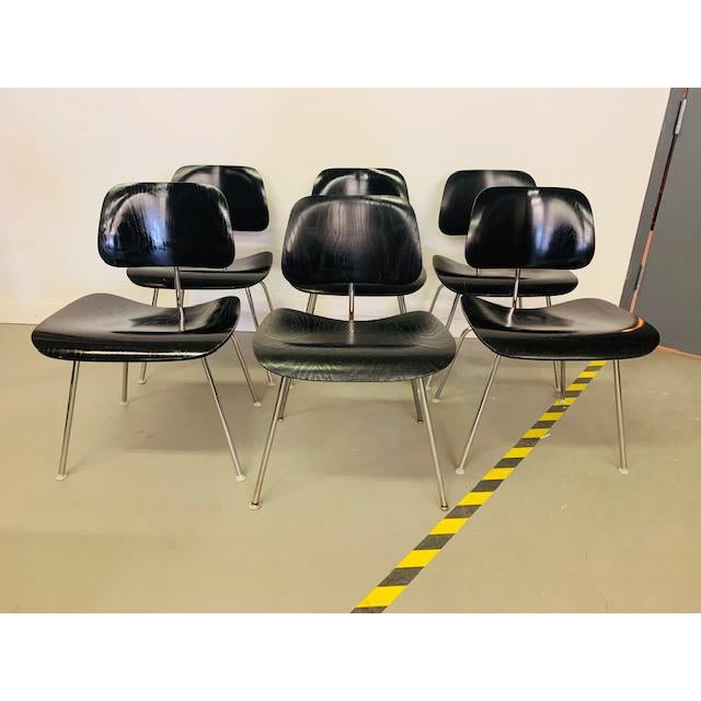 1960s Vintage Eames Dcm Chairs - Set of 6 For Sale - Image 12 of 12