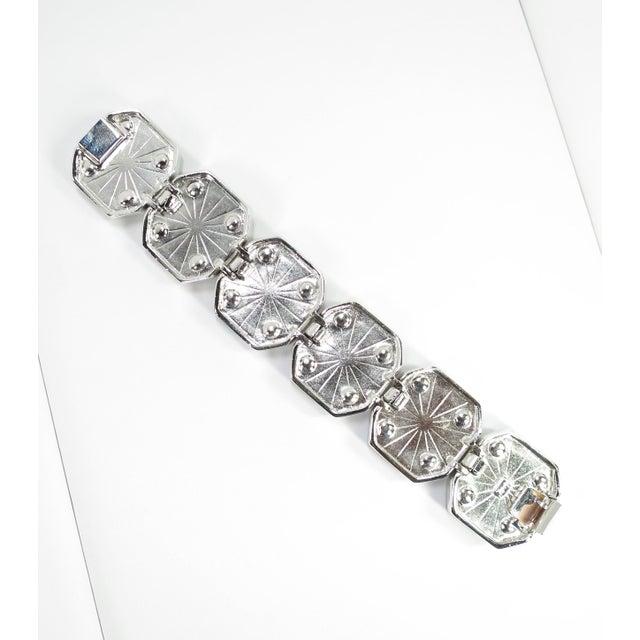 1980s Ysl Yves Saint Laurent Faux Mabe Pearl & Black Enamel Link Bracelet For Sale - Image 10 of 13