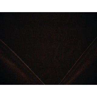 Ralph Lauren Grant Mohair Velvet Sable Brown Upholstery Fabric - 3 7/8 Yards For Sale