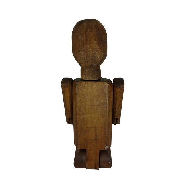 1940s Folk Art Articulating Man From France, Circa 1940 For Sale - Image 5 of 7
